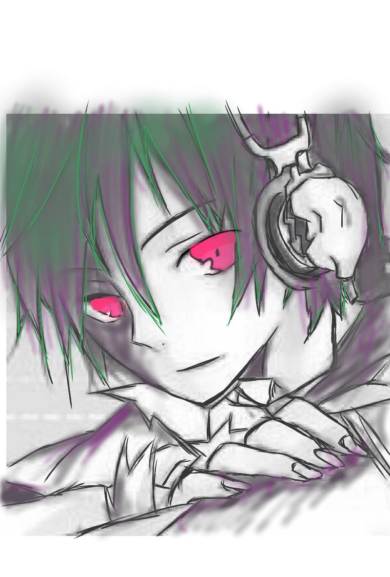 闇ヘッドホン男子 - ibispaint