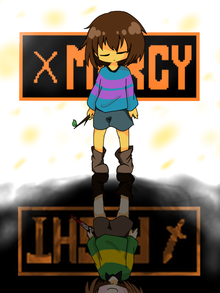 UndertaleFriskChara MERCY Or FIGHT