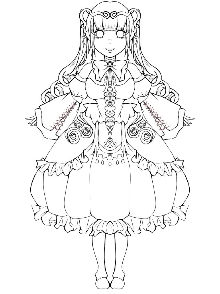 ドレス 線画