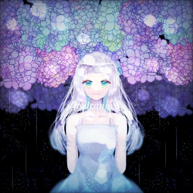 少女と雨と紫陽花