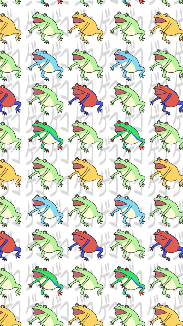 カエルの壁紙 Ibispaint