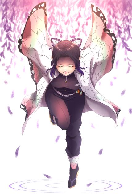 胡蝶 しのぶ イラストミニキャラ
