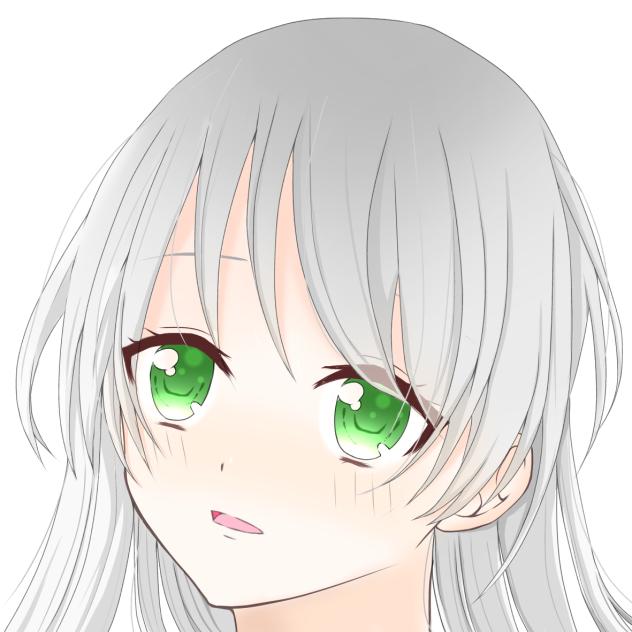 白髪女の子 Ibispaint