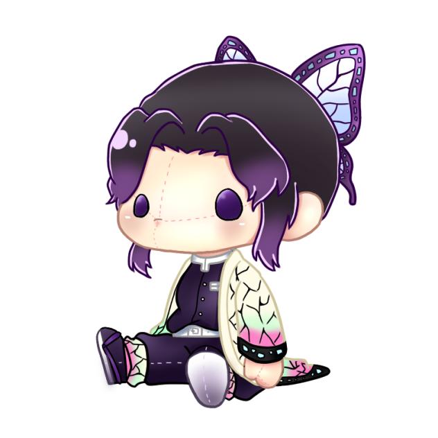 胡蝶しのぶイラスト可愛い