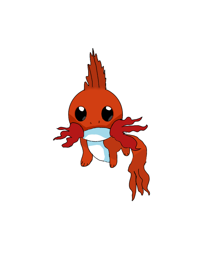 mudkip as a fire type