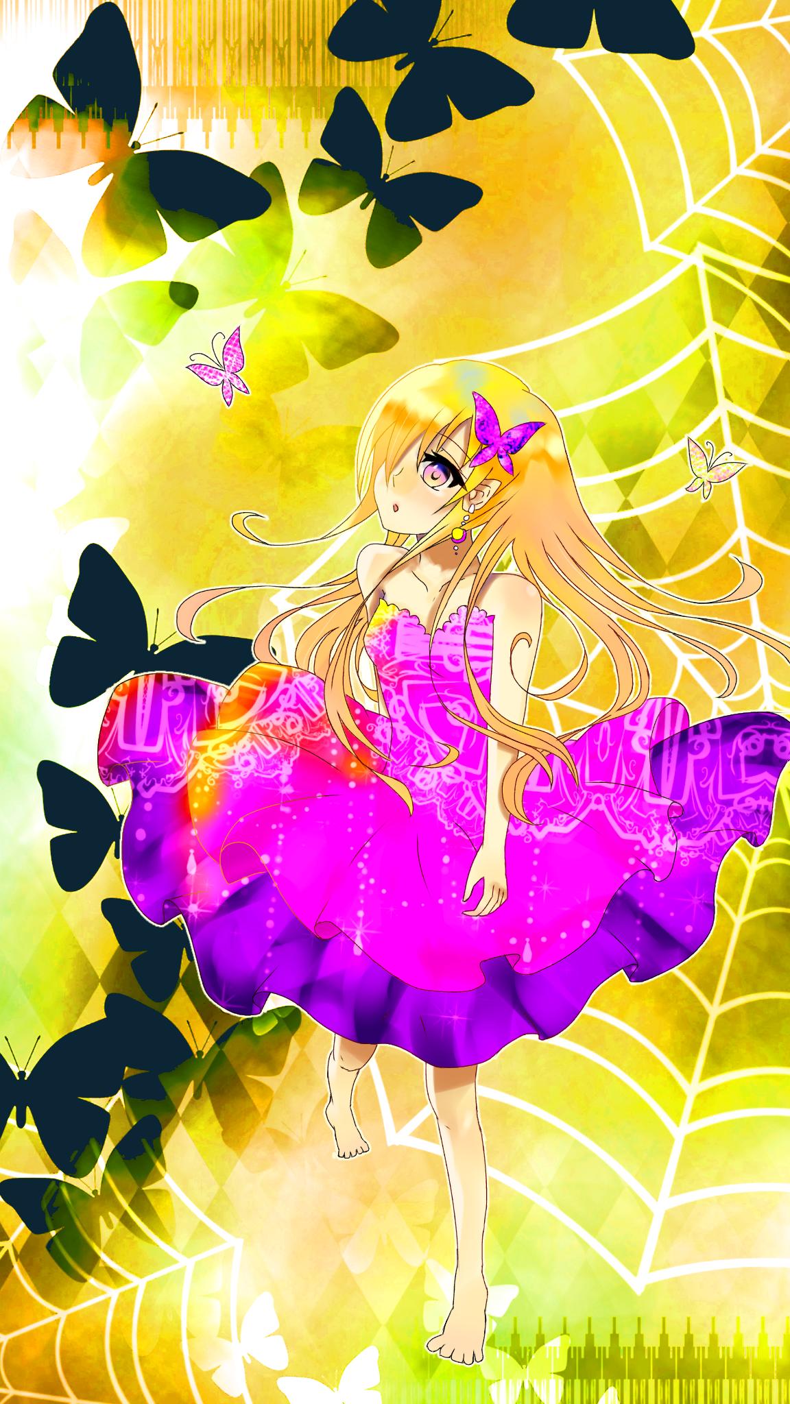 少女と蝶    塗らせてもらっちゃった⭐️