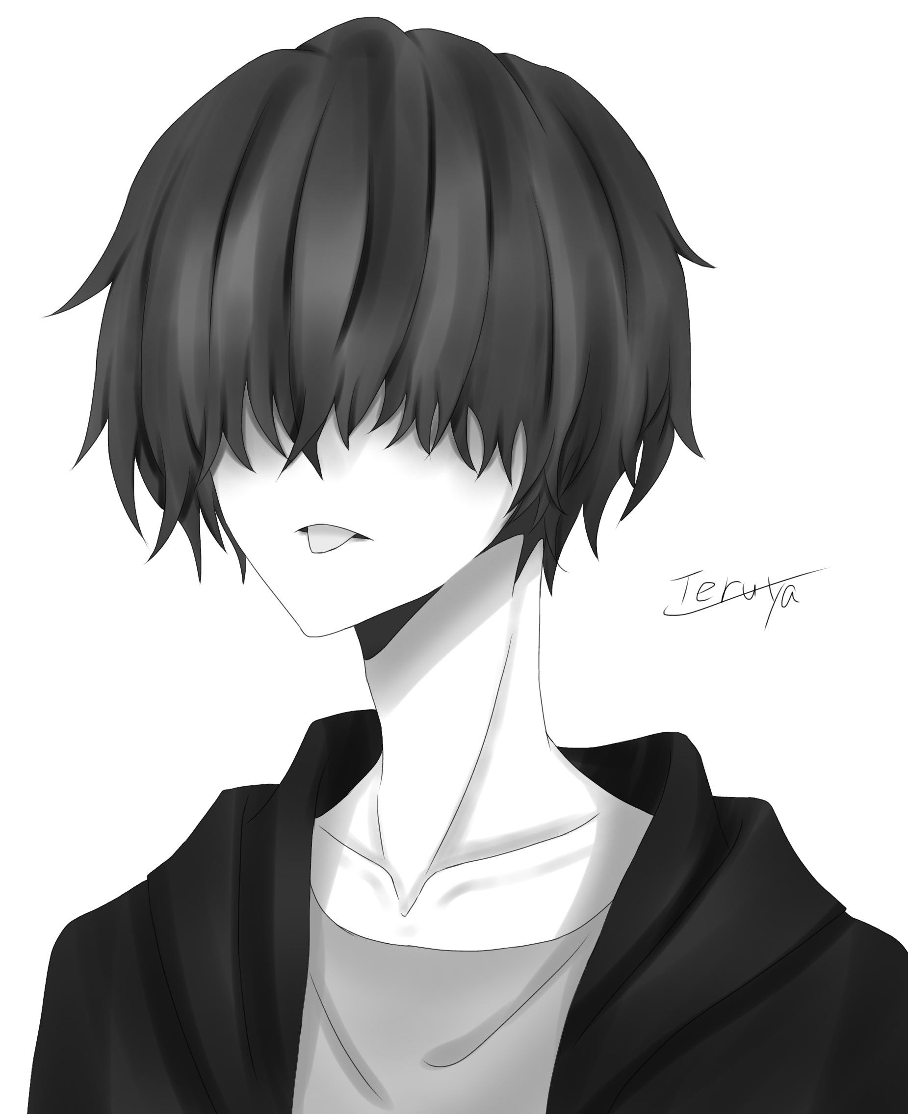 マッシュ白黒 Ibispaint