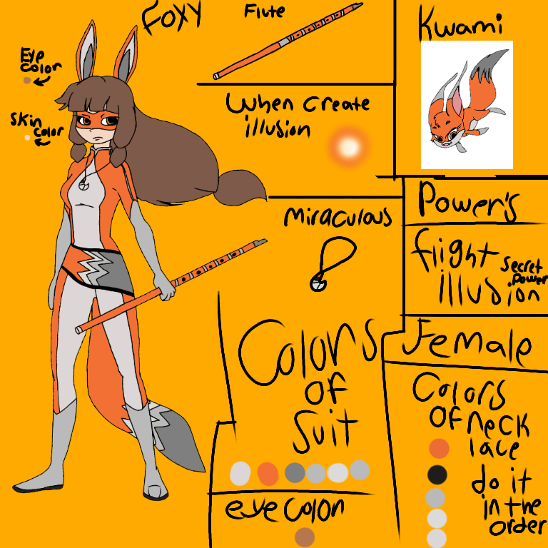 foxy s reference sheet ibispaint