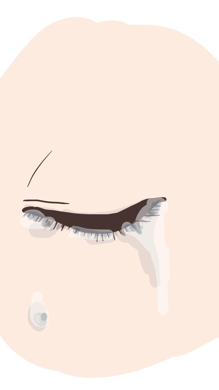 超雑な涙の描き方 Ibispaint