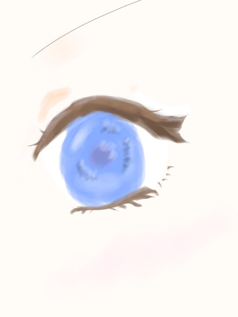 目(油絵風??)