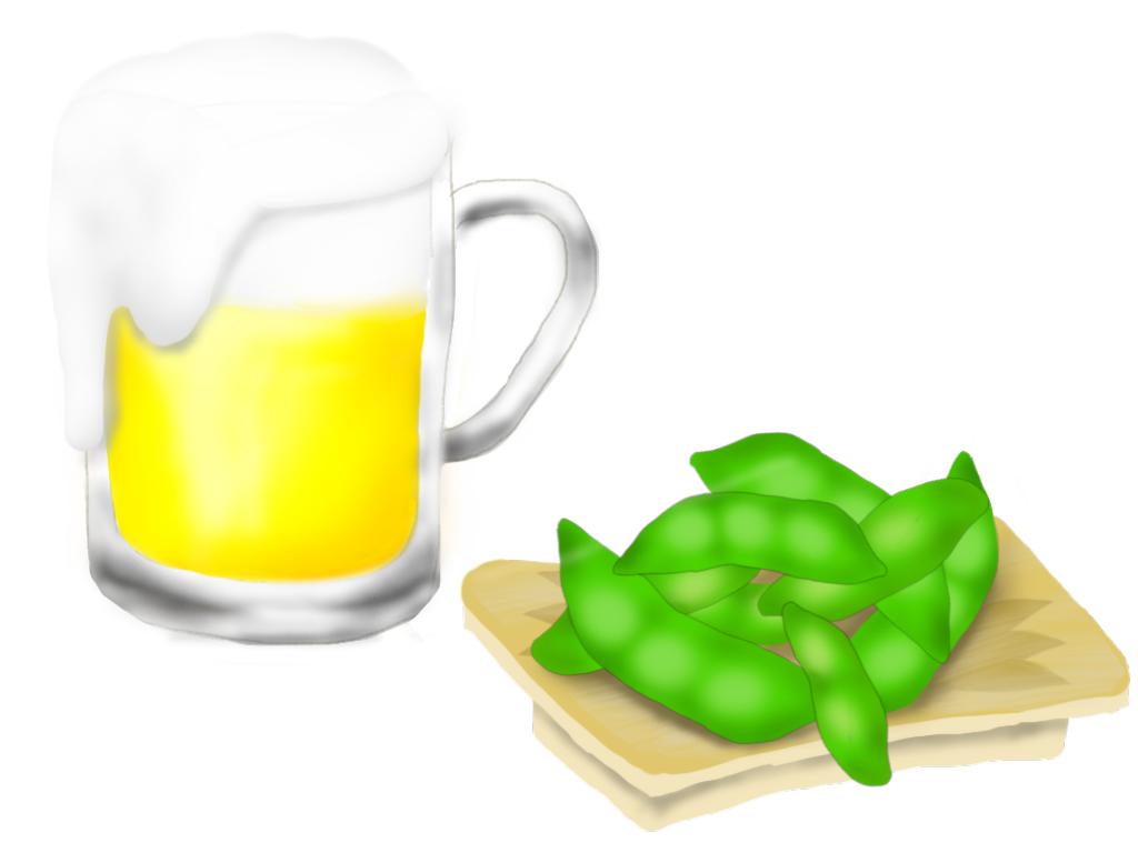 ビールと枝豆 - ibisPaint