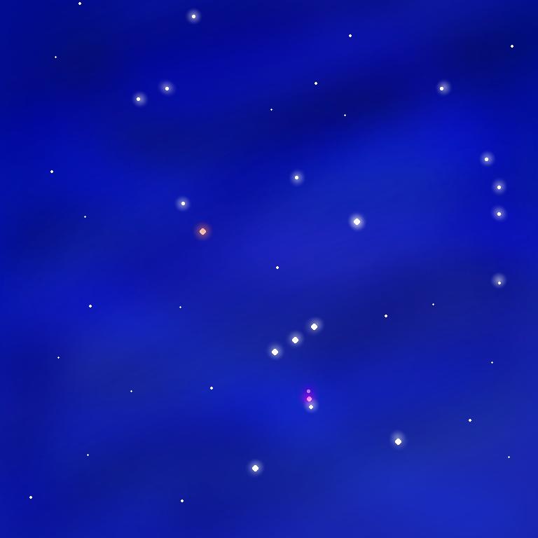 夜空 オリオン座