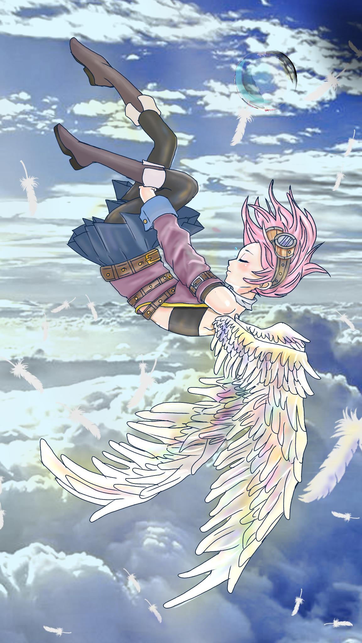 天使 仕上げ途中