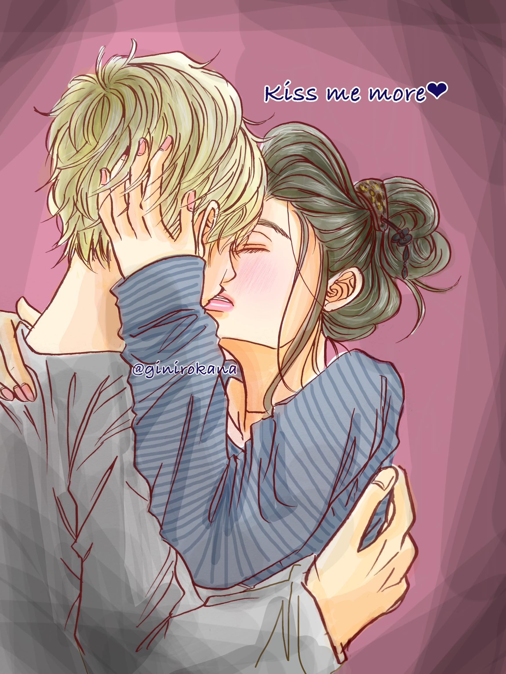 kiss me more❤ カップルキスラブラブlove - ibispaint