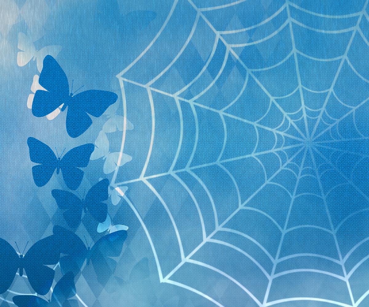 雨の中の蝶